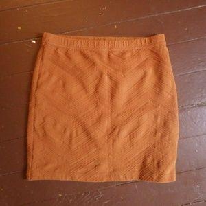burnt orange ecote festival skirt